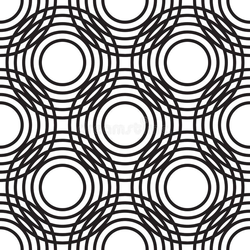 Abstract geometric circles seamless pattern. royalty free illustration