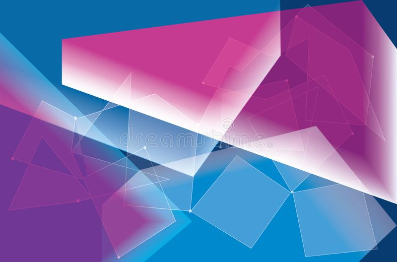 Abstract Geometric Colorful Background. High Saturated. Gradients Different Geometrical Shapes stock illustration