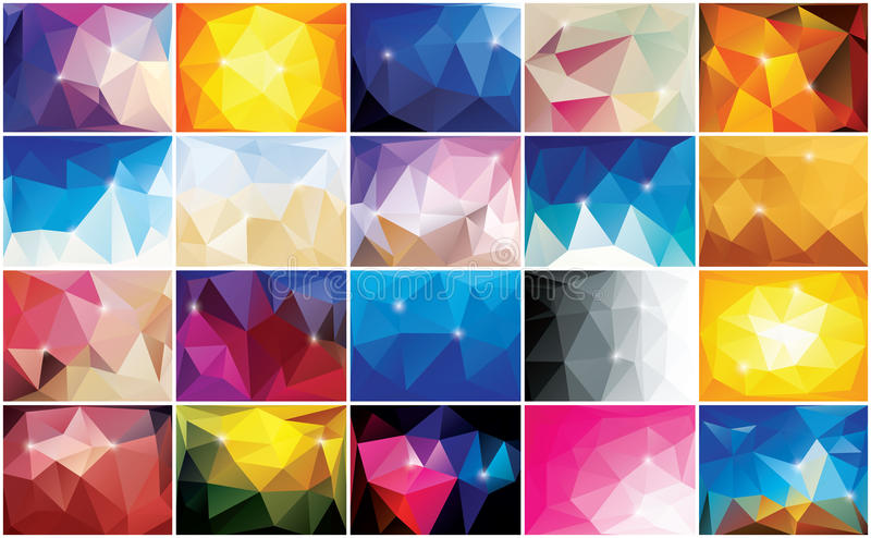 Abstract geometric colorful background, pattern design royalty free illustration