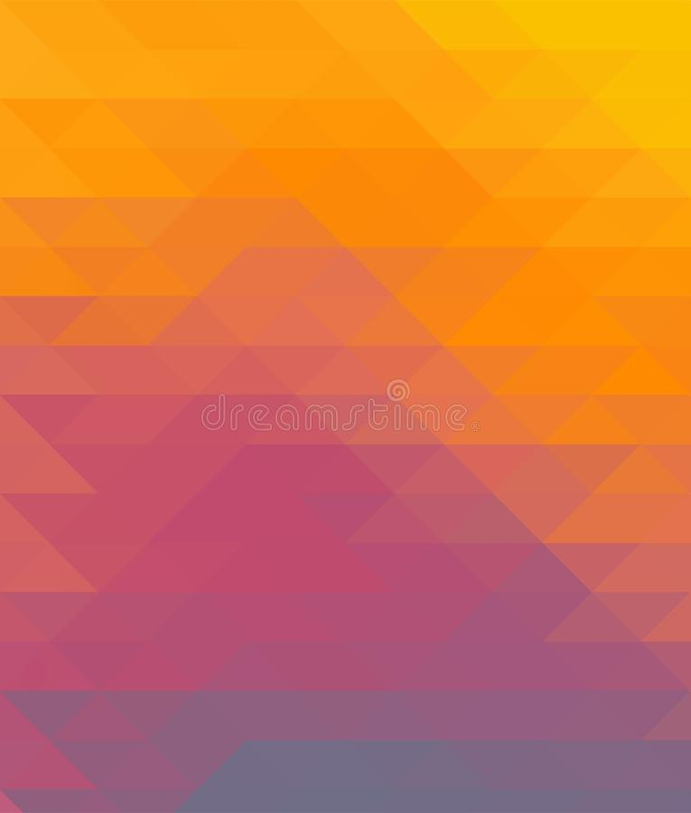 Abstract geometric colorful background with triangles, low poly illustration. stock illustration