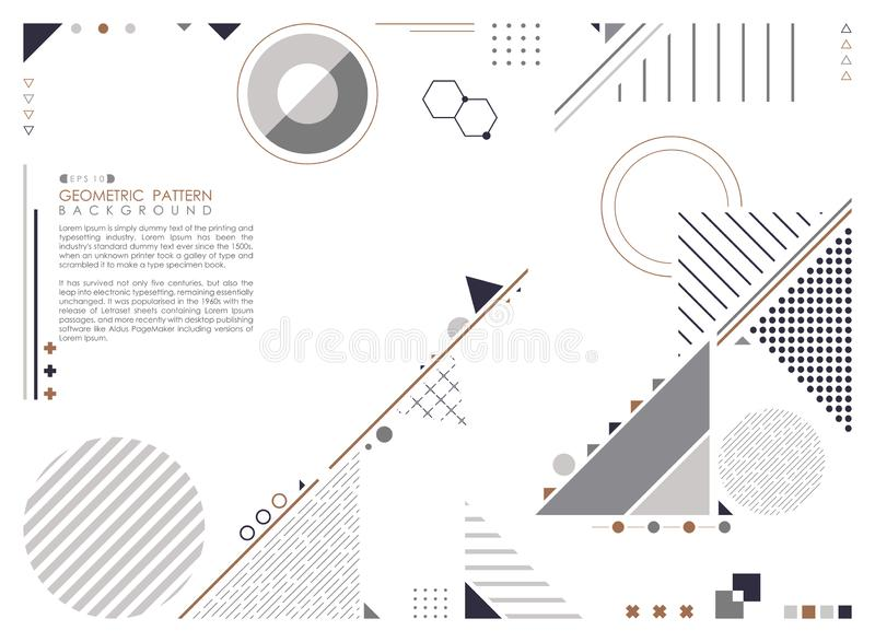 Abstract geometric composition forms modern design background royalty free illustration