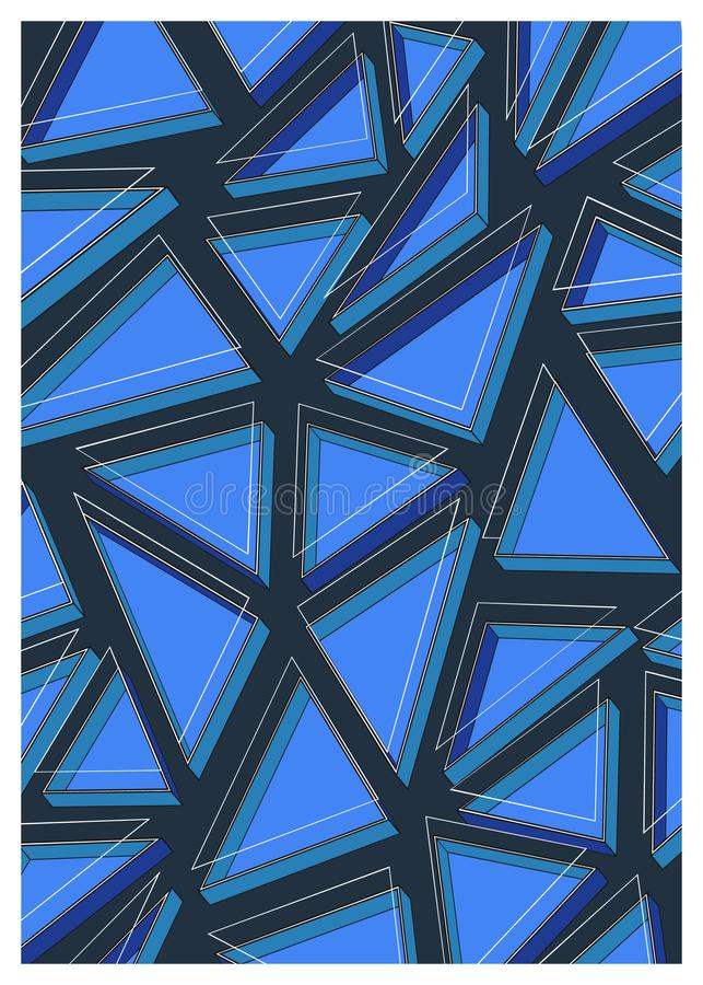 Abstract geometric composition of vector illustration royalty free illustration