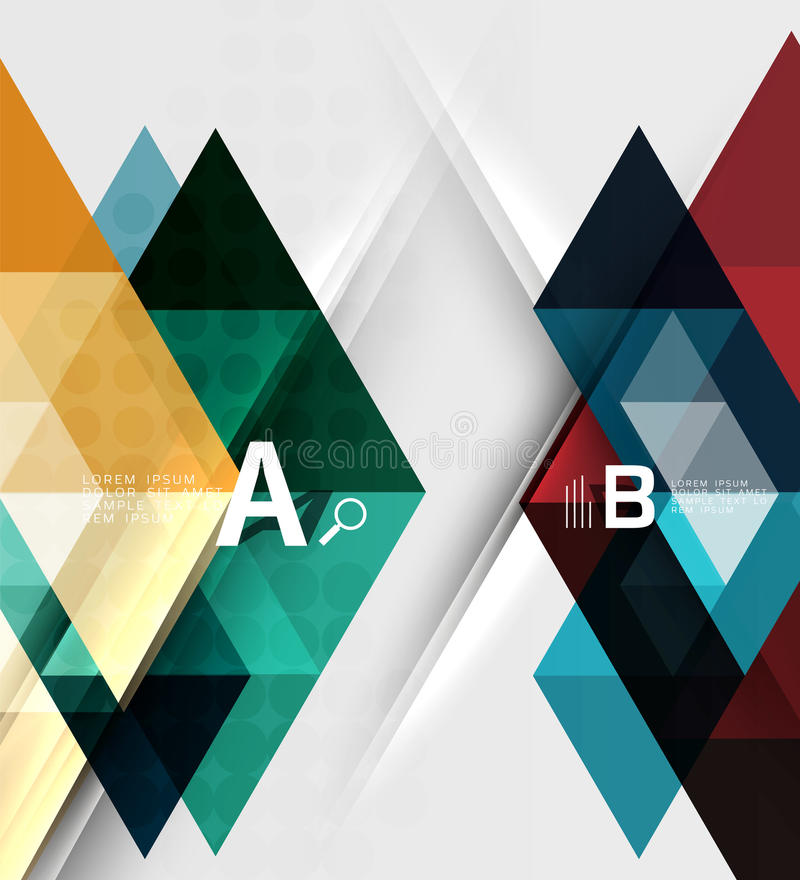 Abstract geometric concept royalty free illustration