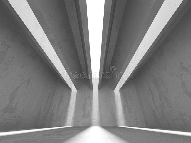 Abstract geometric concrete architecture background stock images