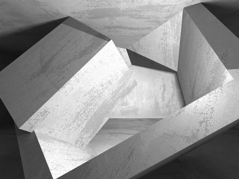 Abstract geometric concrete architecture background royalty free illustration