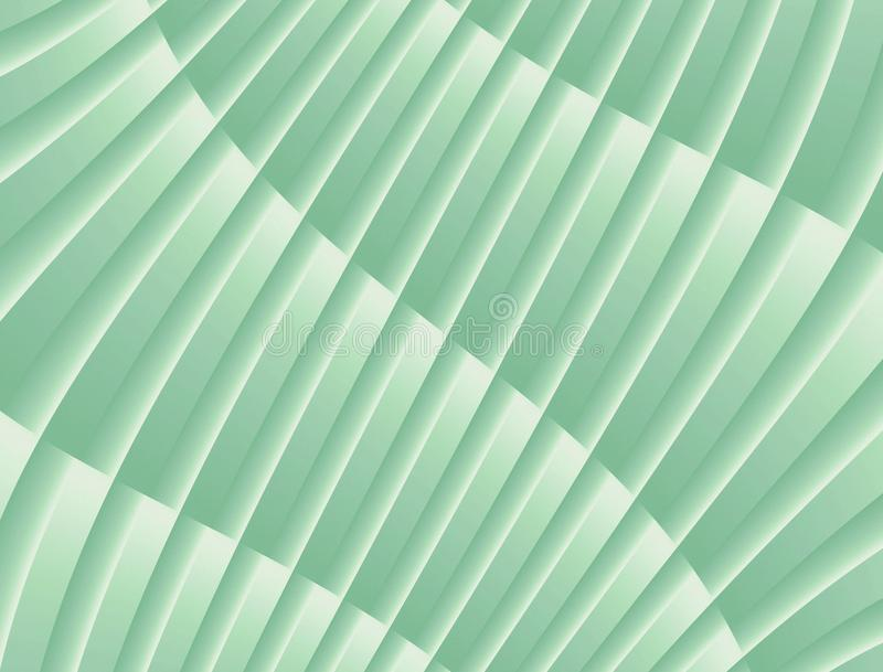 Textured Abstract Curves and Lines Geometric Diagonal Background Design Soft Green White. Abstract geometric curve and line shapes arc and fan in a diagonal royalty free stock photos