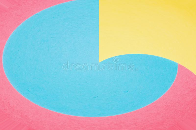 Abstract geometric curving shapes background royalty free stock photography