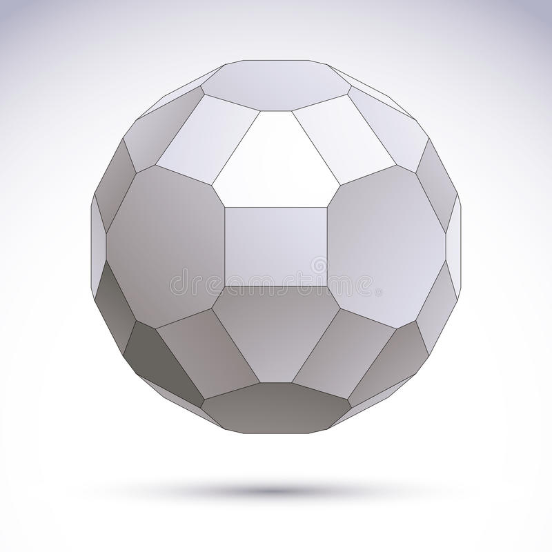 Download Abstract Geometric 3D Object, Modern Digital Technology And Scie Stock Vector - Image: 42238643