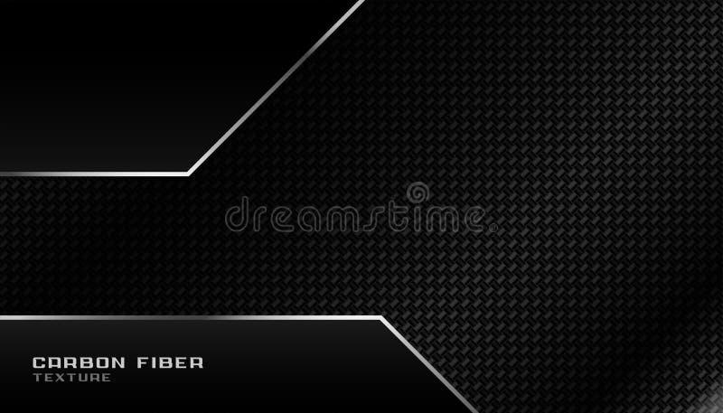 Abstract geometric dark carbon fiber background design stock illustration