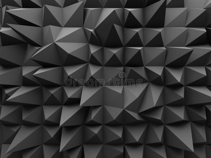 Abstract Geometric Dark 3d Background. 3d Render Illustration stock photo