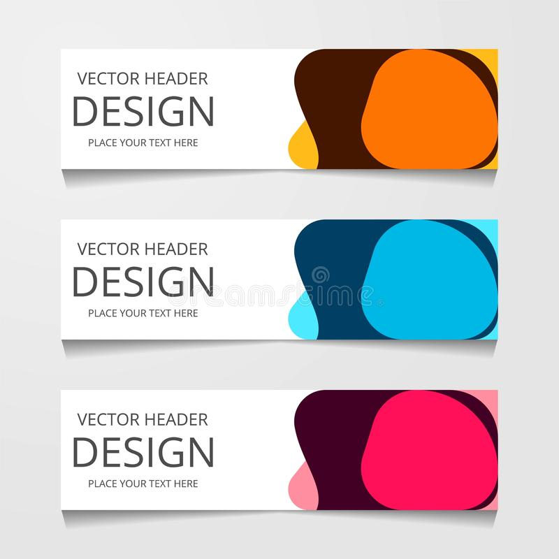 abstract geometric design banner web template. Vector Illustration. royalty free illustration