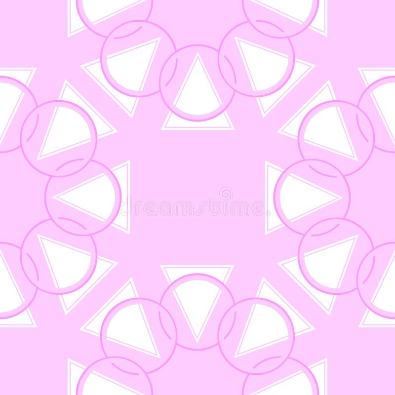 Abstract geometric pattern with circles and triangle shapes. Seamless vector background. Colorful texture. Abstract geometric element pattern with circles and stock illustration