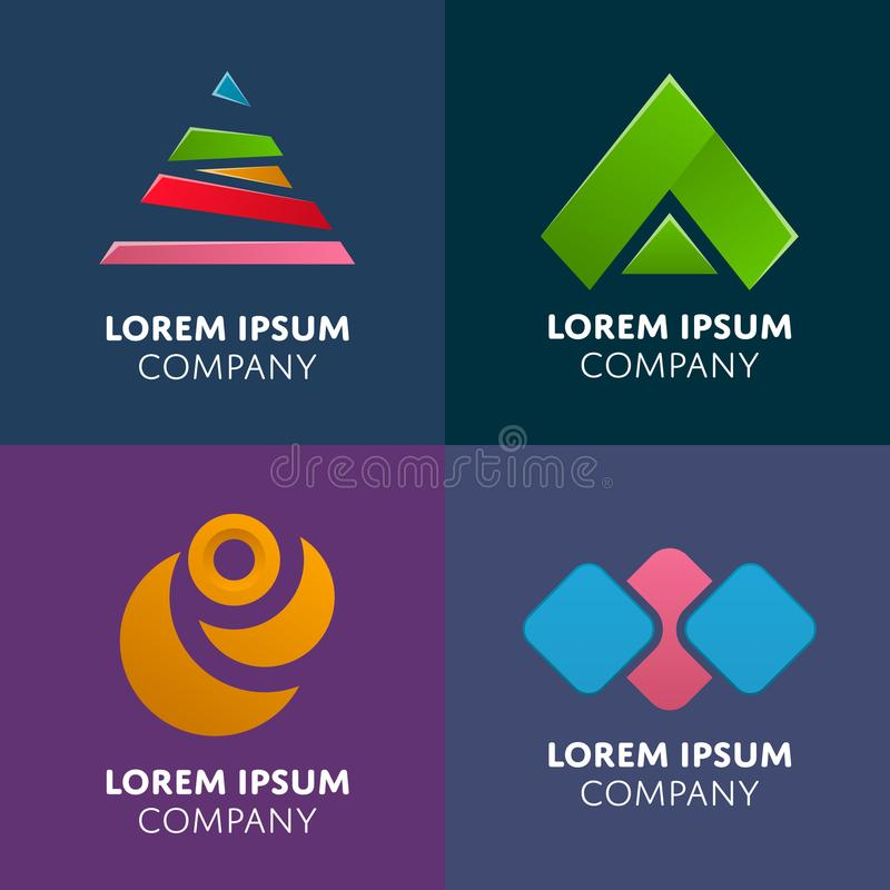 Abstract geometric elements for business design stock illustration