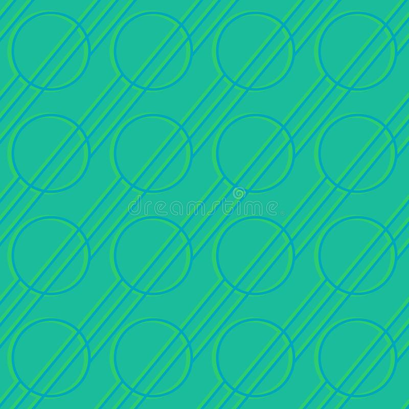 Abstract geometric figures - glowing lines and circles on dark colored background. Vector seamless pattern for textile, prints,. Wallpaper etc. Available in EPS stock illustration