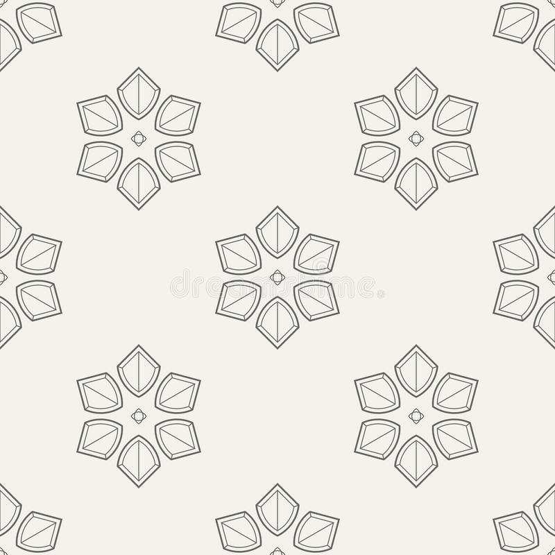 Abstract geometric floral ornament seamless pattern. royalty free illustration