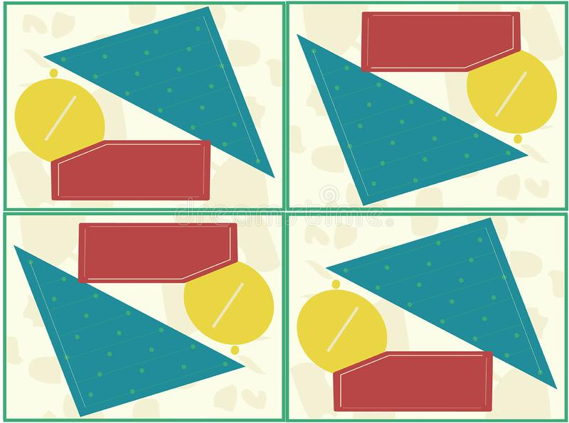 Abstract geometric form. Yellow cirle vector illustration