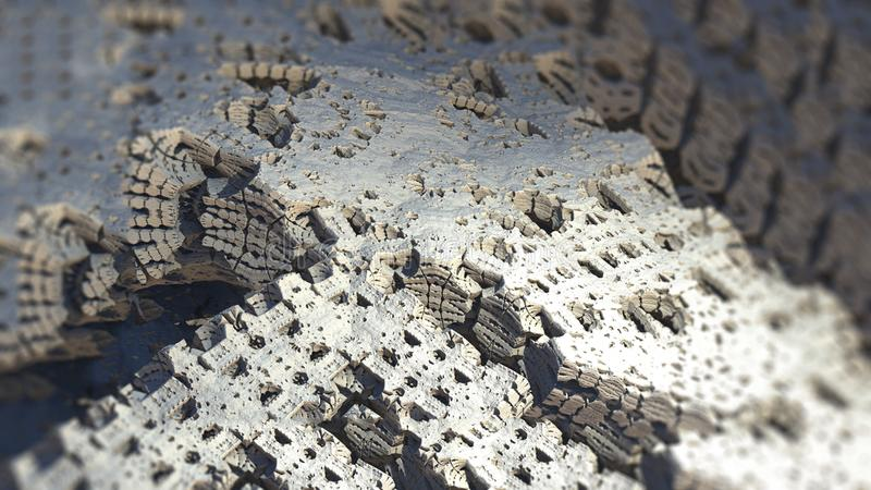 Abstract geometric surface structure macro digital 3d illustration. Abstract geometric fractal nature rock surface structure macro digital 3d illustration vector illustration