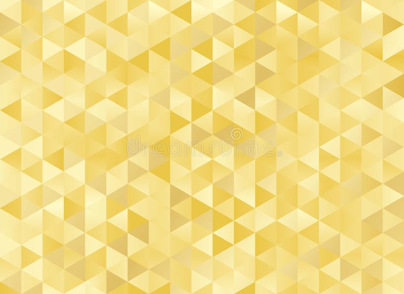 Abstract geometric gold background royalty free illustration
