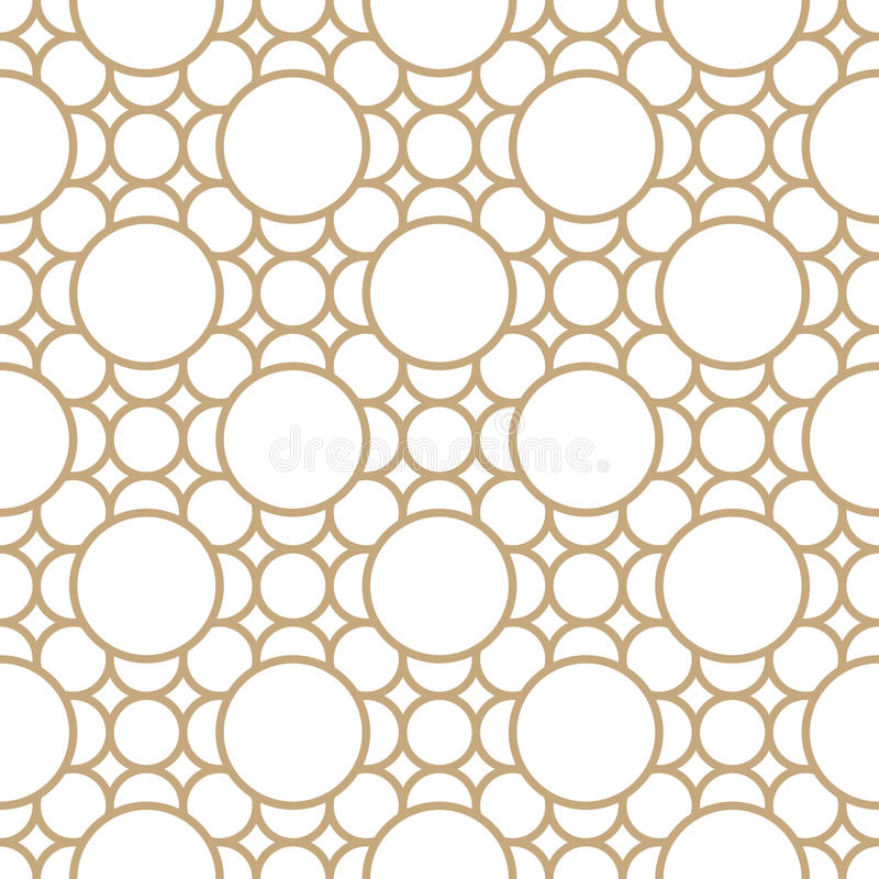 Abstract geometric gold deco art ornament pattern royalty free illustration