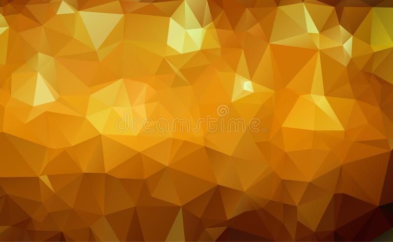 Abstract Geometric Gold and White Abstract Vector Background for Use in Design. Modern Polygon Texture.  royalty free illustration