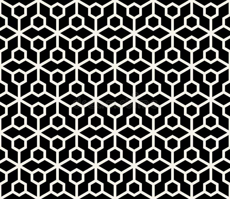 abstract geometric hexagon minimal seamless pattern royalty free illustration