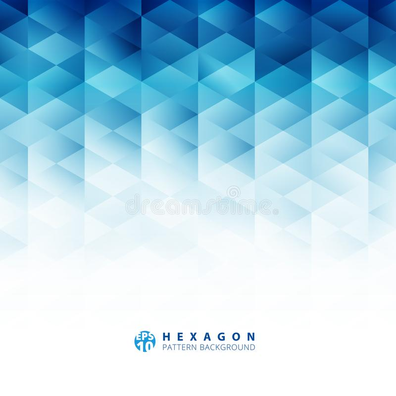Abstract geometric hexagon pattern blue background, Creative design templates stock illustration