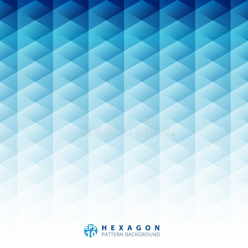 Abstract geometric hexagon pattern blue background, Creative design templates vector illustration
