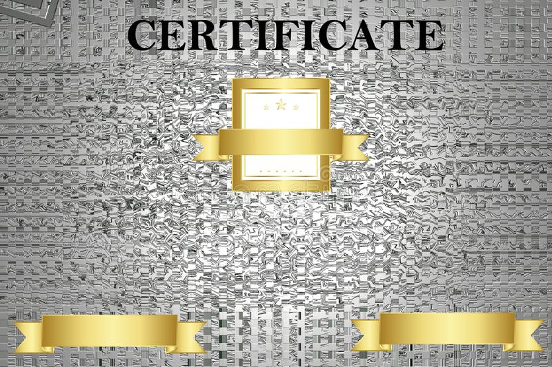 Certificate template with luxury and modern pattern,diploma. Vector illustration. royalty free stock photos