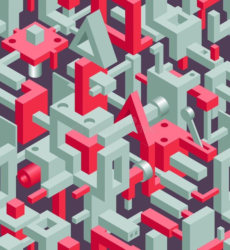 Abstract Geometric Hi-Tech Background stock illustration