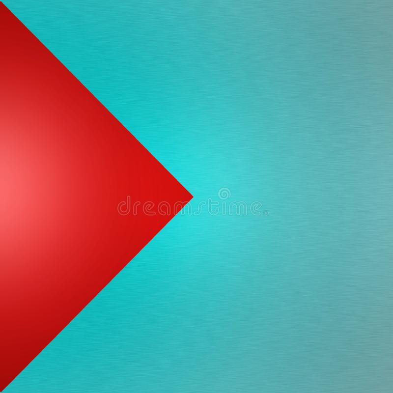 Abstract Blue Brushed Metal on Red Background stock images