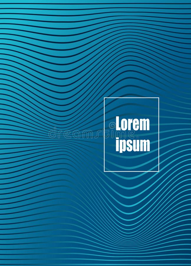 Abstract geometric line pattern background for business brochure cover design. Vector banner poster template stock illustration