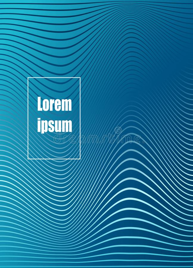 Abstract geometric line pattern background for business brochure cover design. Vector banner poster template royalty free illustration