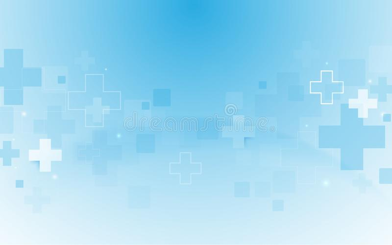 Abstract geometric medical cross shape medicine and science concept background. Space for your text stock illustration