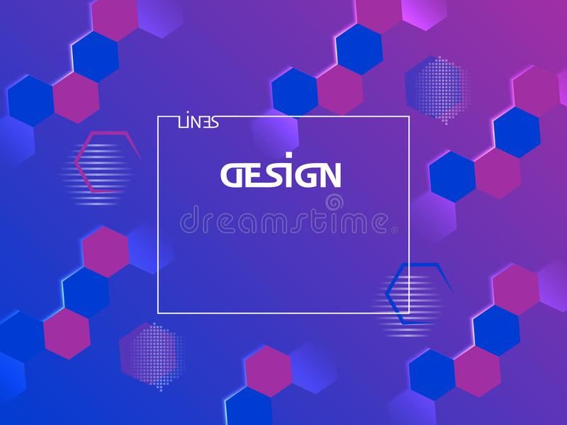 Abstract geometric minimal background. Vector shapes hexagon design. royalty free illustration