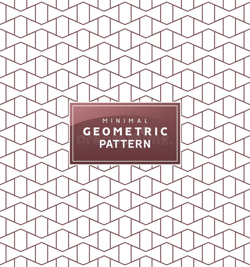 Abstract geometric minimal pattern with Seamless vector geometric wallpaper ornament 皇族释放例证