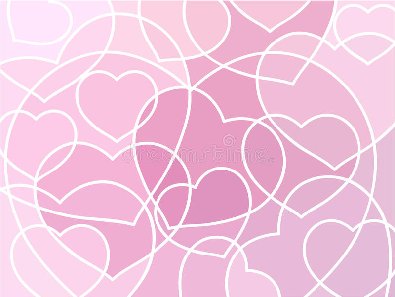 Abstract geometric mosaic hearts background royalty free illustration