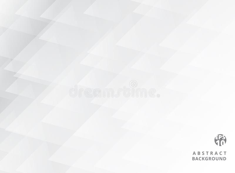 Abstract geometric overlay elegant white and grey background. Triangle pattern. Vector illustration royalty free illustration