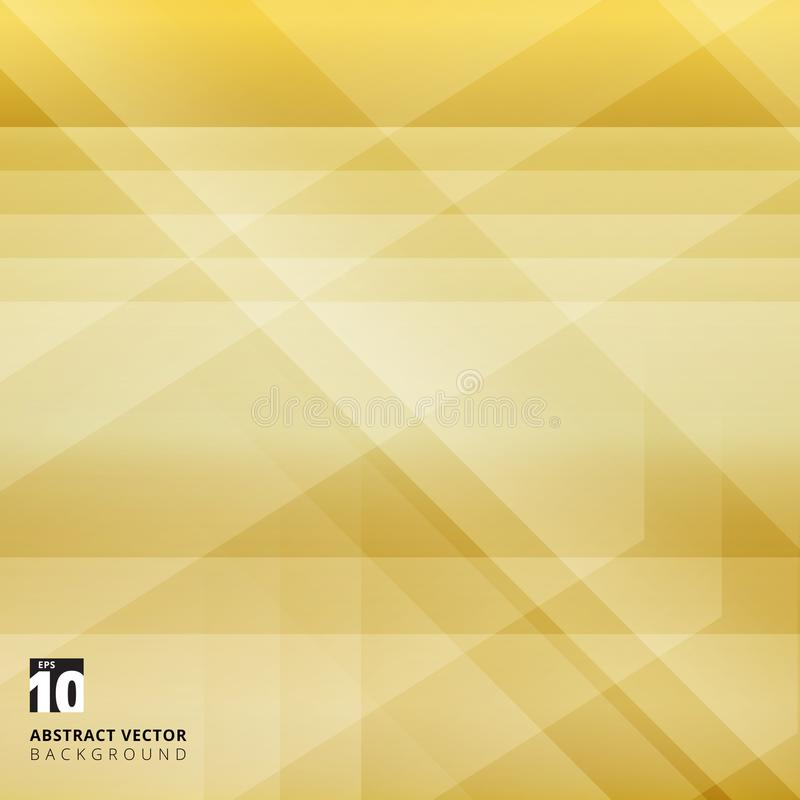 Abstract geometric overlay on yellow background with diagonal st. Ripes. Technology and dynamic motion. For ad, print, brochure, flyer, poster, magazine, booklet stock illustration