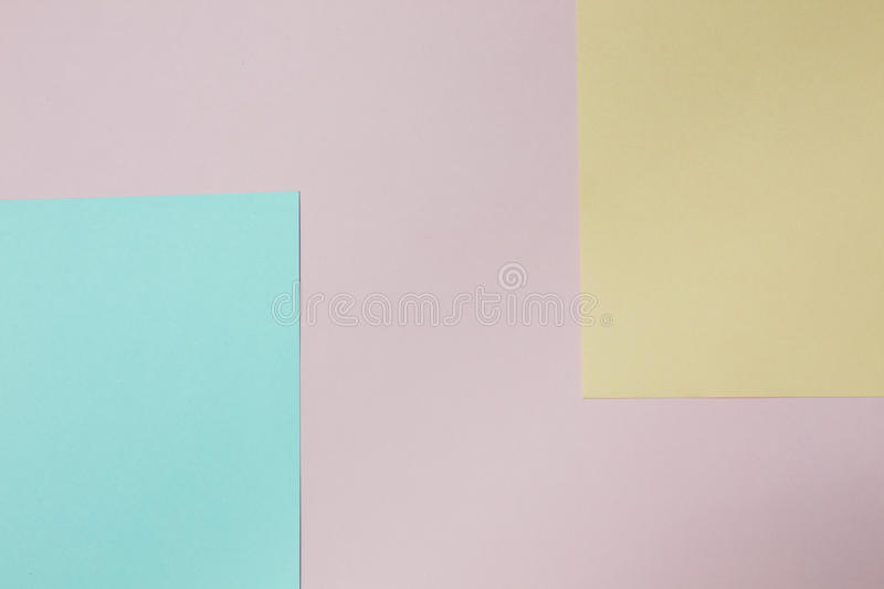 Abstract geometric paper background. Blue, pink and orange trend colors. stock image