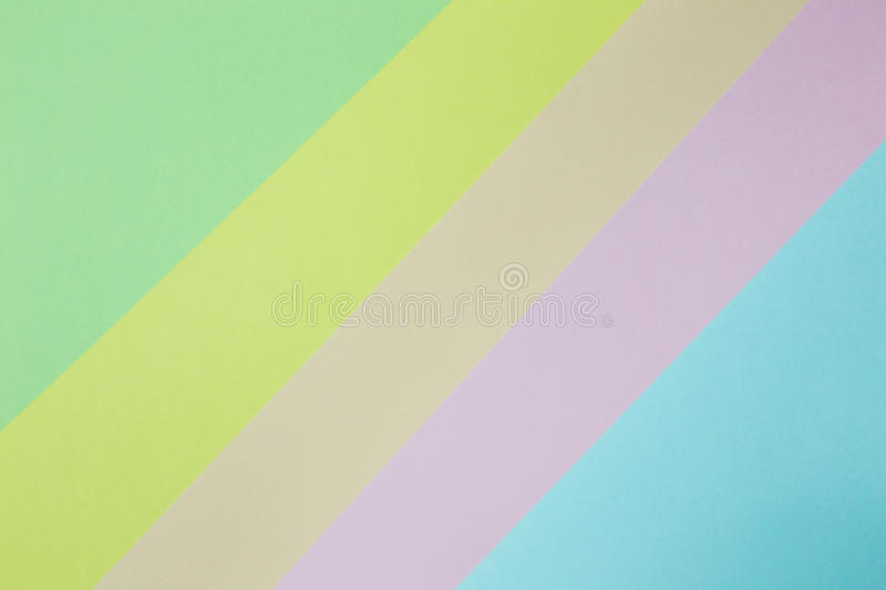 Abstract geometric paper background. Green, yellow, pink, orange, blue trend colors stock image