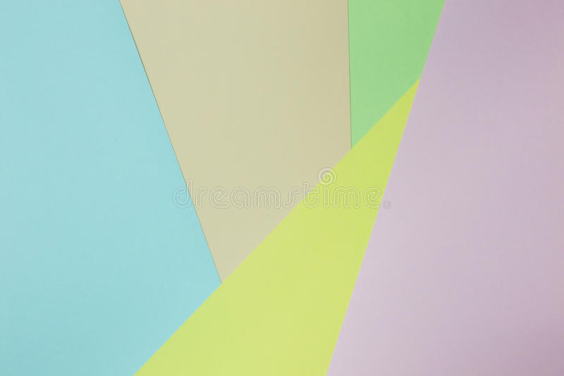 Abstract geometric paper background. Green, yellow, pink, orange, blue trend colors royalty free stock photography