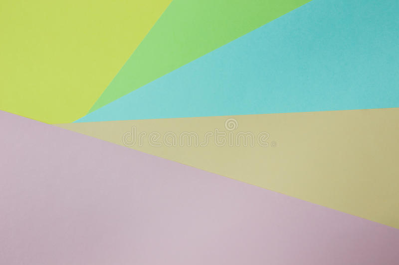 Abstract geometric paper background. Green, yellow, pink, orange, blue trend colors. royalty free stock photos