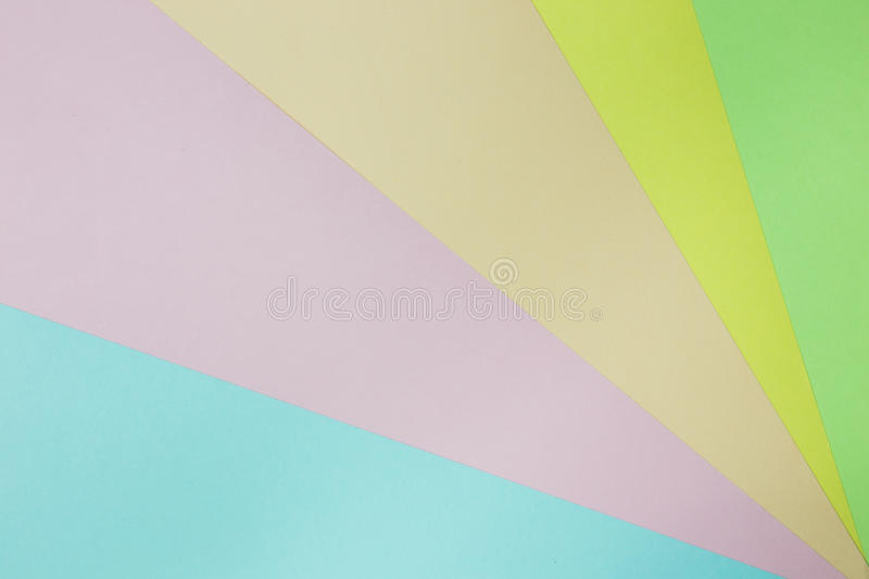 Abstract geometric paper background. Green, yellow, pink, orange, blue trend colors. Concept or idea picture use for copy space royalty free stock photography