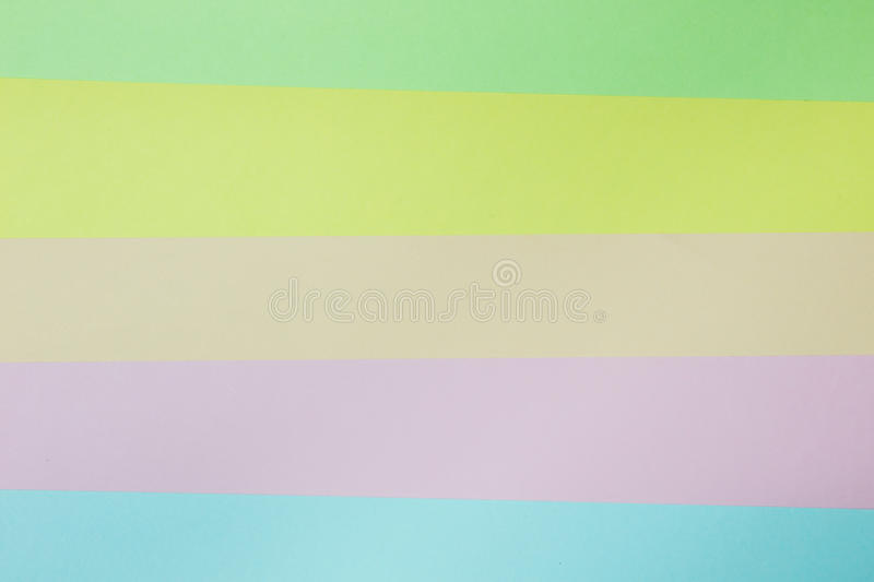 Abstract geometric paper background. Green, yellow, pink, orange, blue trend colors stock photo