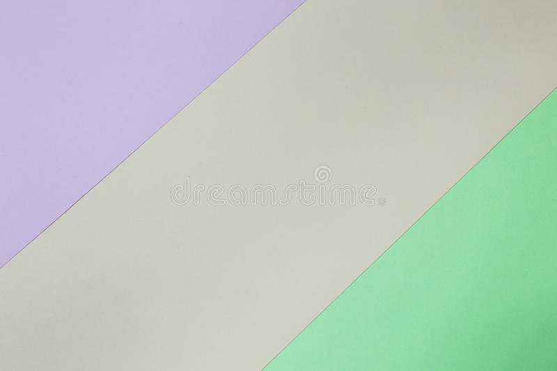 Abstract geometric paper background. Pink, green and orange trend colors. royalty free stock photography