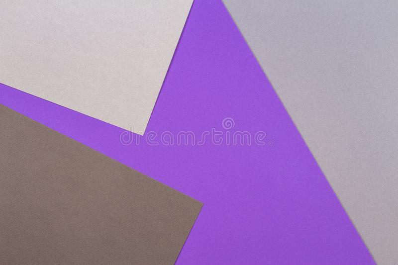Abstract geometric paper texture cardboard background. Top view of purple violet gray trend colors tones stock photos