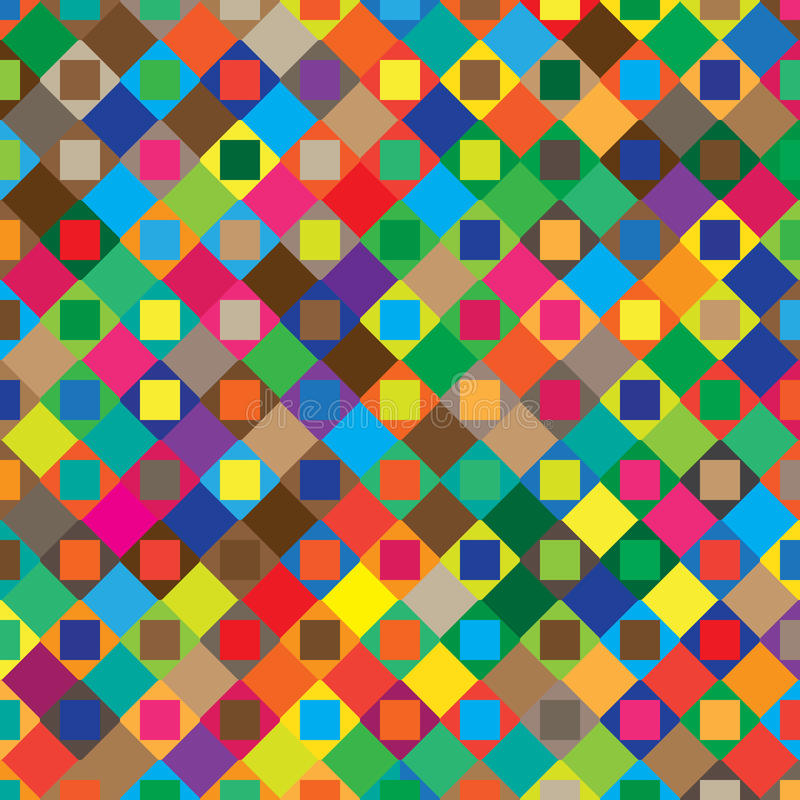 Abstract geometric pattern with colorful elements. Vector illustration background. stock illustration