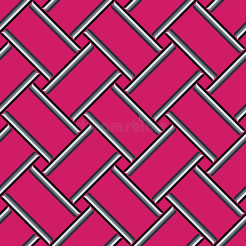 Abstract geometric pattern, colorful pink seamless background. vector illustration