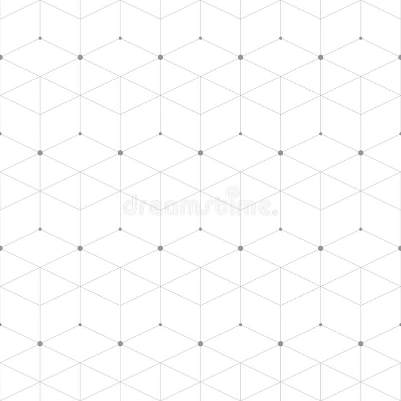 Abstract geometric pattern dot with rhombuses vector illustration
