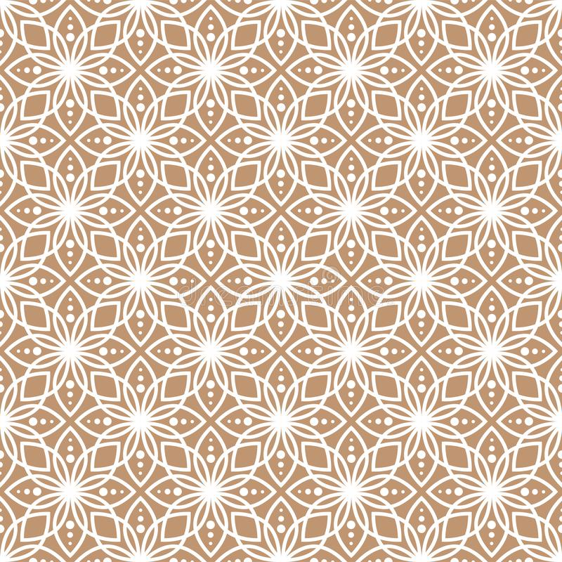 Abstract geometric pattern with lace texture. Oriental style design background texture.  royalty free illustration